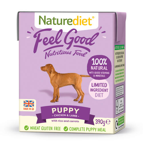 Naturediet Feel Good Chicken & Lamb Puppy Wet Dog Food Cartons