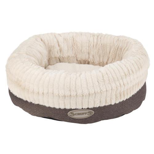 Scruffs Ellen Donut Dog Bed in Grey