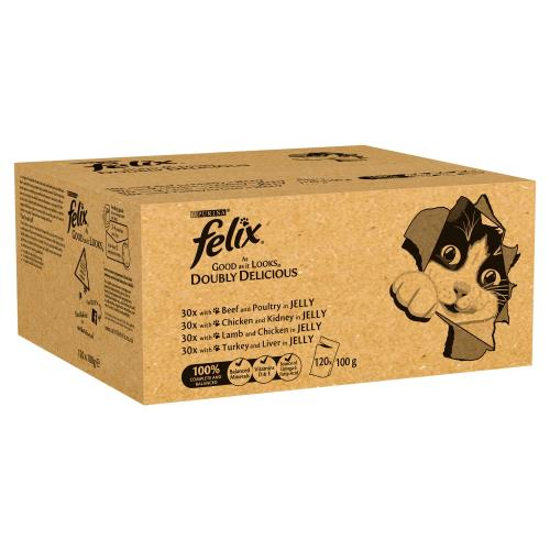 Felix As Good As It Looks Doubly Delicious Meat Selection Adult Cat Food