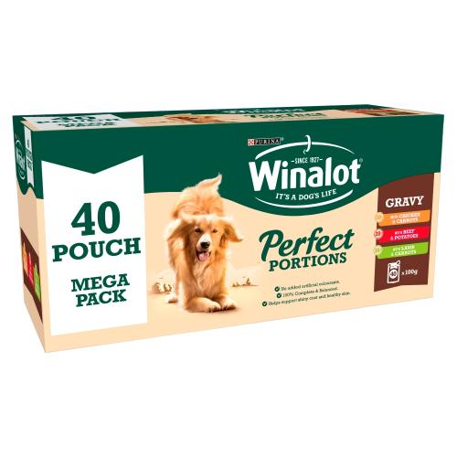 Winalot Perfect Portions Multipack in Gravy Wet Adult Dog Food