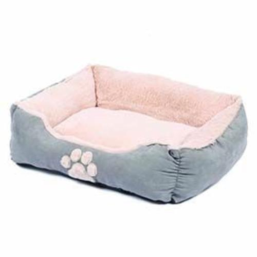 Happy Pet Hugs Square Dove Grey Dog Bed