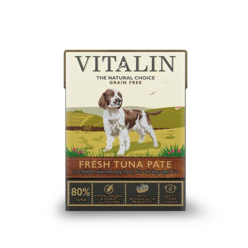 Vitalin Natural Grain Free Tuna Pate Wet Adult Dog Food Cartons