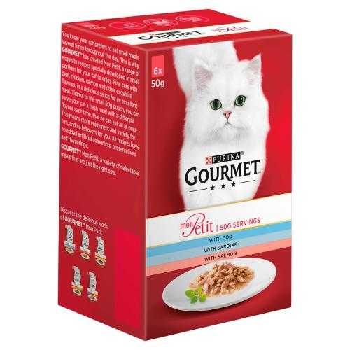 Gourmet Mon Petit Fish Recipes Pouches Adult Cat Food