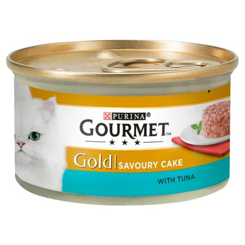 Gourmet Gold Savoury Cake Tuna In Gravy Adult Cat Food