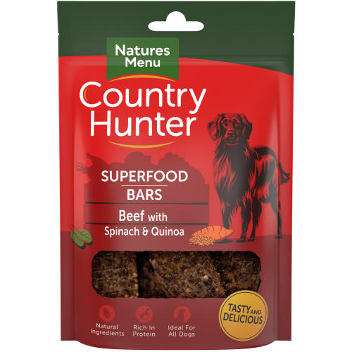 Natures Menu Country Hunter Beef with Spinach & Quinoa Superfood Bar Dog Treat