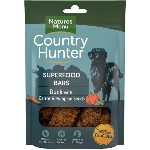 Natures Menu Country Hunter Duck with Carrot & Pumpkin Seeds Superfood Bar Dog Treat