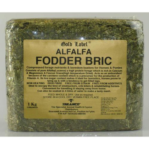 Gold Label Alfalfa Fodder Bric Horse Supplement