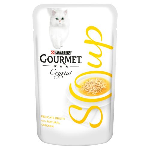 Gourmet Crystal Classic Soup Chicken Adult Cat Food