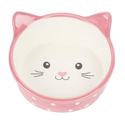 Happy Pet Polka Dot Cat Bowl