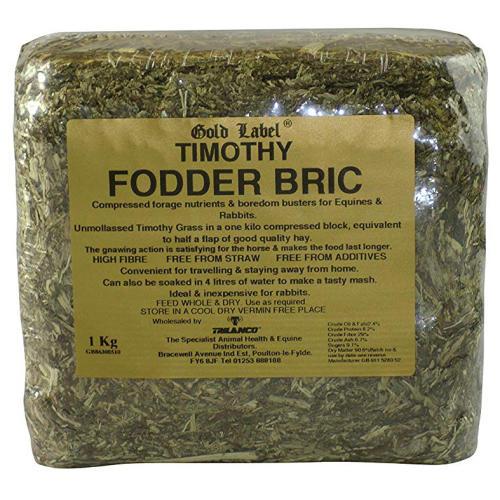 Gold Label Timothy Fodder Bric Horse Supplement