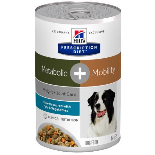 Hills Prescription Diet Metabolic + Mobility Tuna & Veg Stew Wet Dog Food