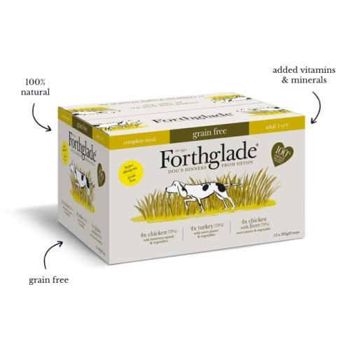 Forthglade Grain Free Complete Meal Poultry Multipack Adult Wet Dog Food