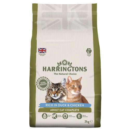 Harringtons Complete Duck & Chicken Dry Adult Cat Food