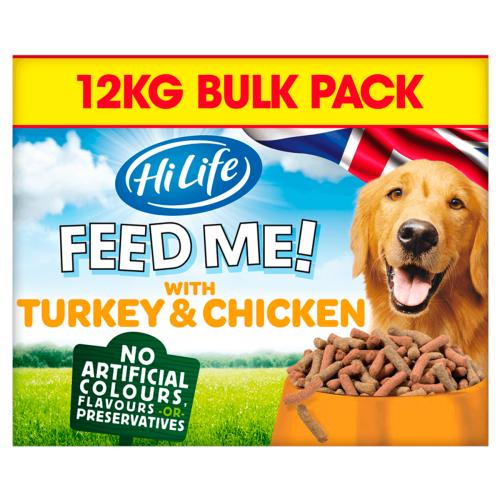 HiLife FEED ME! Turkey & Chicken flavoured with Bacon Adult Dog Food