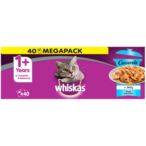 Whiskas Adult 1+ Casserole Fish Selection Cat Pouches in Jelly
