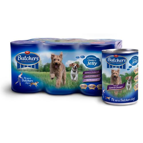 Butchers Rustic Feasts Chunks in Jelly Dog Food Tins