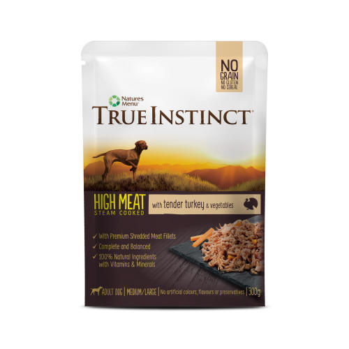 True Instinct High Meat Fillets Chicken with Turkey Adult Wet Dog Food Pouches