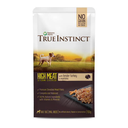 True Instinct High Meat Fillets Chicken with Turkey Small Breed Adult Wet Dog Food Pouches