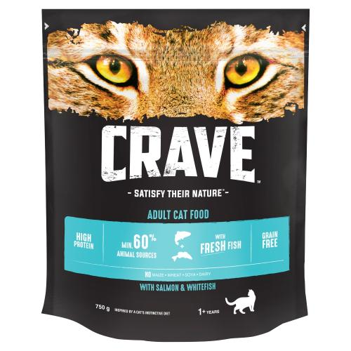 CRAVE Salmon & Fresh Whitefish Dry Adult Cat Food