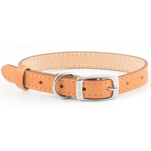 Ancol Diamond Leather Tan Dog Collar
