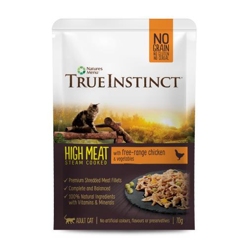 True Instinct High Meat Fillets Free Range Chicken Wet Adult Cat Food