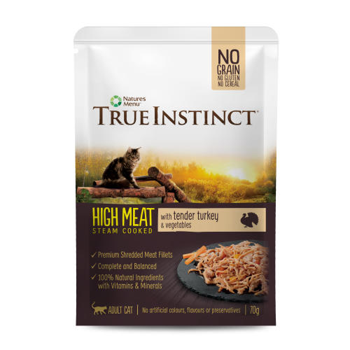 True Instinct High Meat Fillets Chicken & Turkey Wet Adult Cat Food