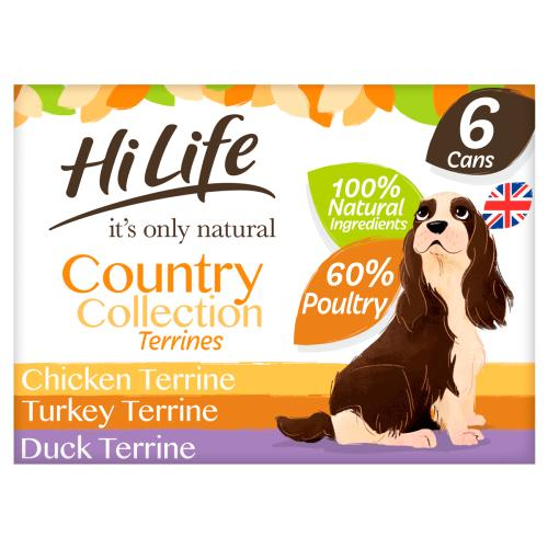 HiLife Its Only Natural Country Collection Terrines Wet Adult Dog Food