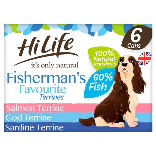 HiLife Its Only Natural Fishermans Favourite Terrines Wet Adult Dog Food