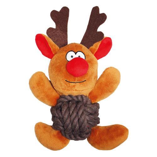 Happy Pet Knottie Reindeer Christmas Dog Toy