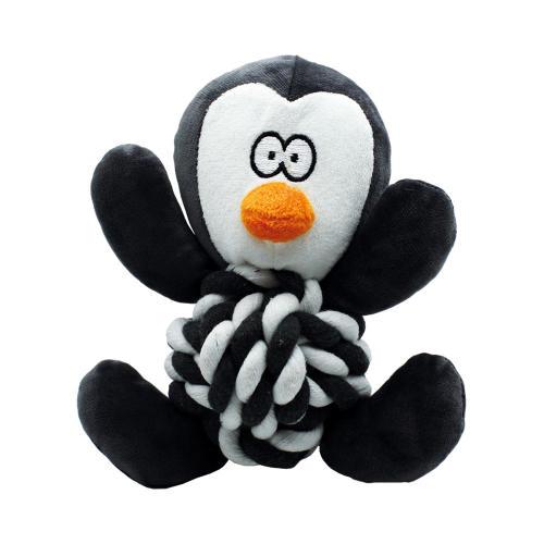 Happy Pet Pengiun Knottie Christmas Dog Toy