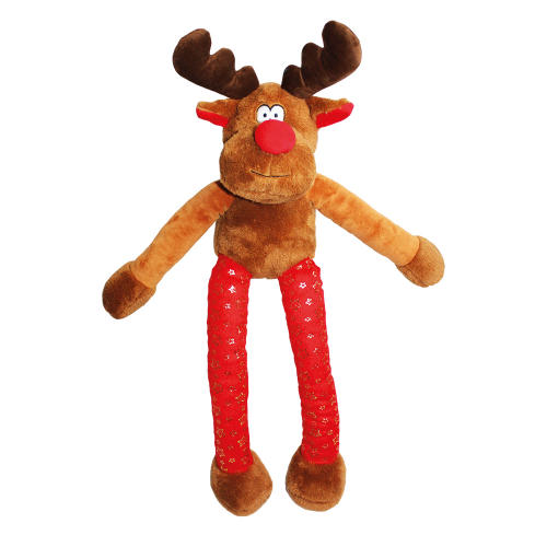 Happy Pet Superstar Reindeer Supersize Christmas Dog Toy