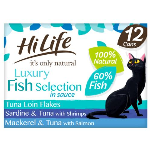HiLife Its Only Natural Luxury Fish Selection in Sauce Wet Cat Food