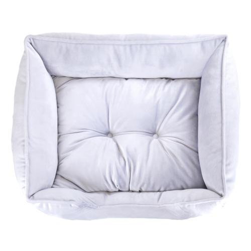 Rosewood Luxury Silver Velvet Christmas Dog Bed