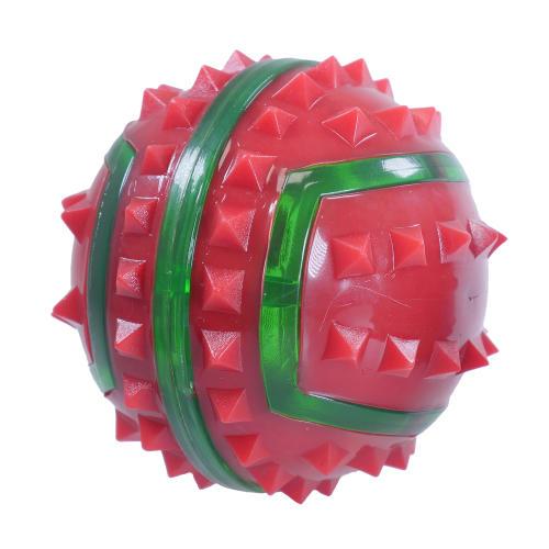 Rosewood Christmas Flashing Spikey  Ball Dog Toy