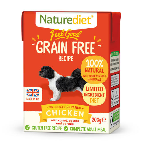 Naturediet Feel Good Grain Free Chicken Wet Adult Dog Food Cartons