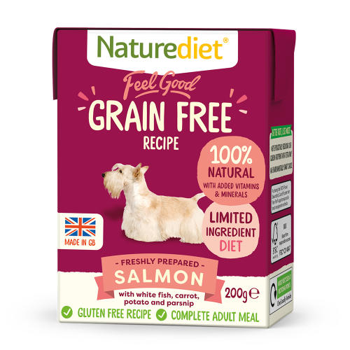 Naturediet Feel Good Grain Free Salmon Wet Adult Dog Food Cartons