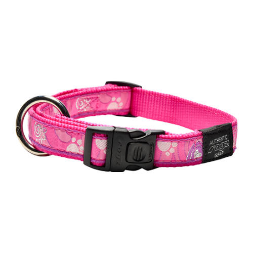 Rogz Fancy Dress Pink Love Dog Collar