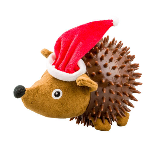 Good Boy Hedgehog Santa Christmas Dog Toy