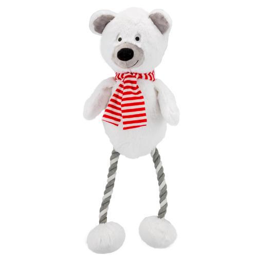 Hug Tug Polar Bear Christmas Dog Toy