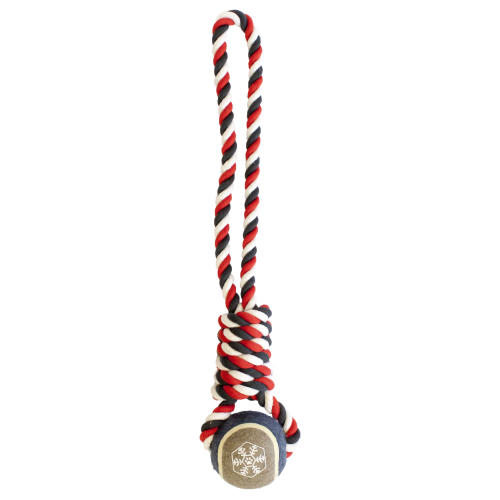 Christmas Tennis Ball Rope Dog Toy