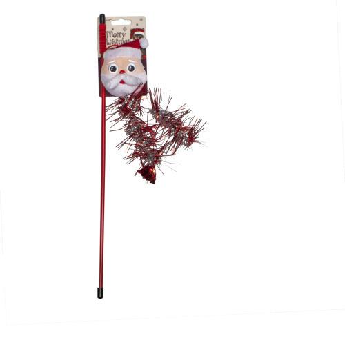 Merry Christmas Santa Teaser Wand Cat Toy