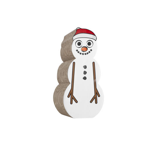 Christmas Snowman Cat Scratcher Toy