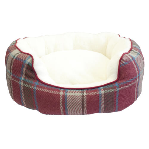 Christmas Dog Bed with Reversible Cushion