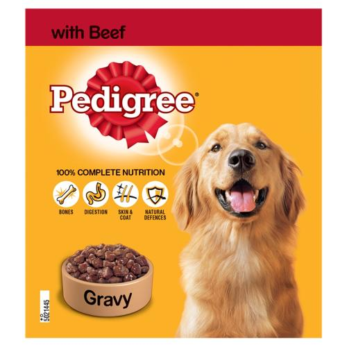 Pedigree Beef in Gravy Adult Dog Food Tins