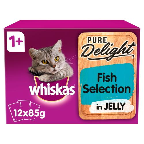 Whiskas 1+ Pure Delight Fish Selection Wet Adult Cat Food