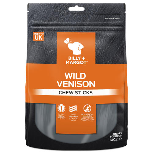 Billy & Margot Wild Venison Chew Sticks Dog Treats