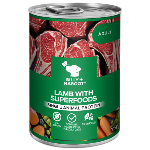 Billy & Margot Lamb with Superfoods Wet Adult Dog Food Tins