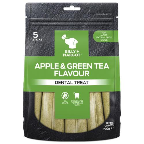 Billy & Margot Apple & Green Tea Dental Chews for Dogs
