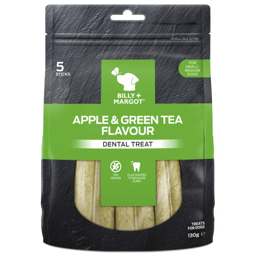 Billy & Margot Apple & Green Tea Dental Chews for Dogs