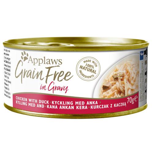 Applaws Chicken with Duck in Gravy Grain Free Wet Adult Cat Food